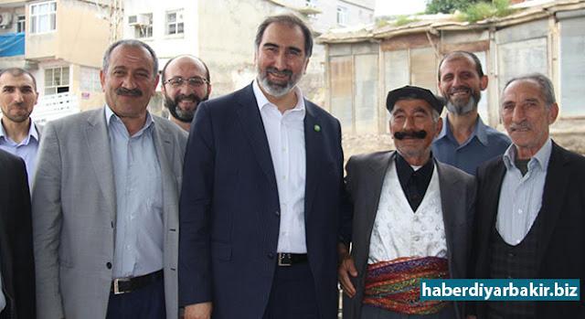 DİYARBAKIR-HÜDA PAR Genel Başkan Yardımcısı Hüseyin Yılmaz ve beraberindeki heyet, Diyarbakır'ın Hani ilçesi esnafını ziyaret ederek sorun ve şikâyetleri dinledi.