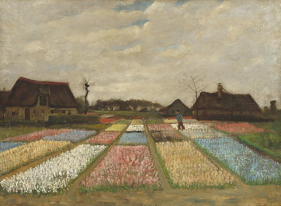 Van Gogh's tulip field painting