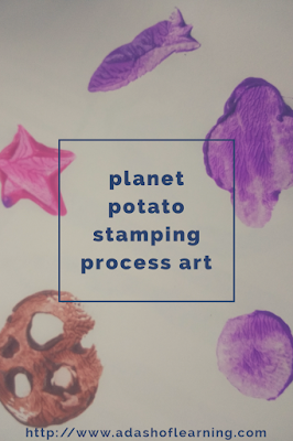 planet potato stamping process art