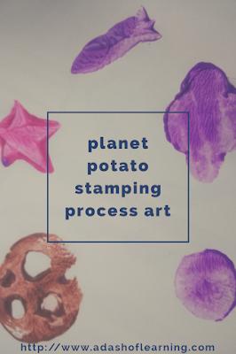 planet potato stamping process art