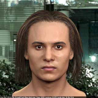 3d model Frank Dillane Nick Clark from Fear the Walking Dead 1