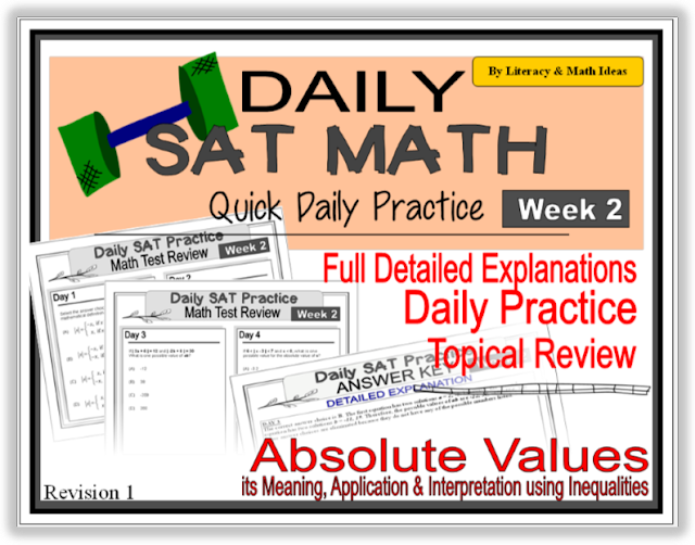 Daily SAT Math Practice - Week 2: Absolute Values