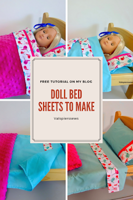 How to make doll bed sheets by valspierssews. Free tutorial.