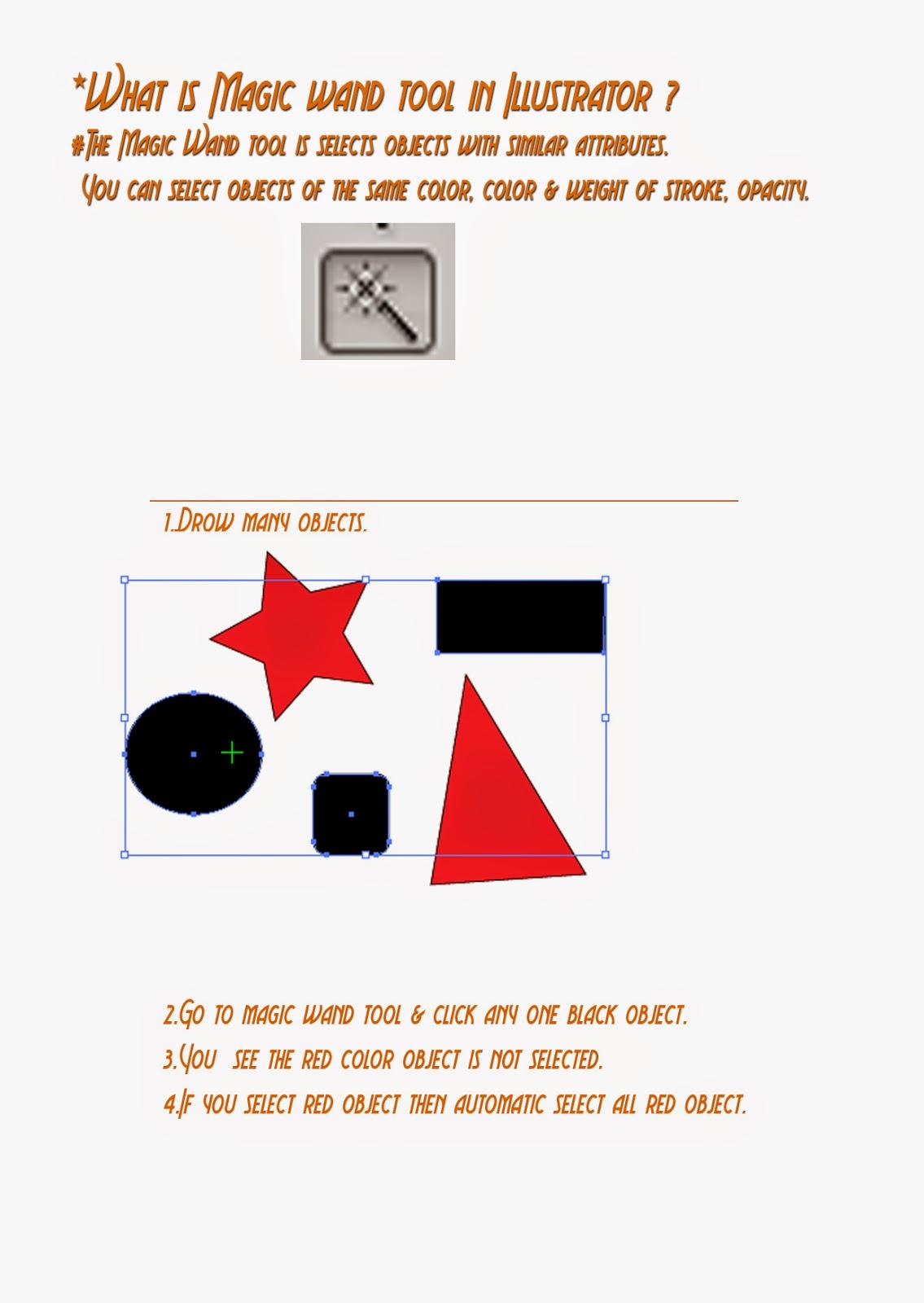 Magic Wand Tool Illustrator