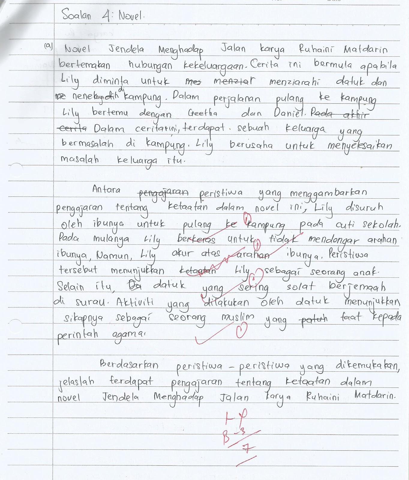 Contoh Jawapan Soalan Komsas Spm Kuora 3