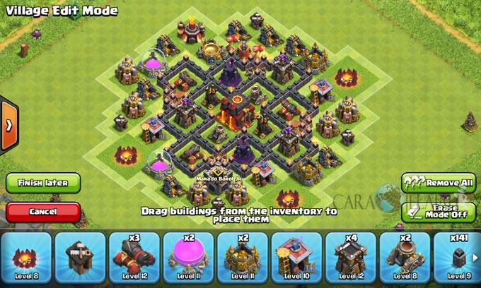 pertahanan terbaik untuk base war th 6 di clash of clans 24