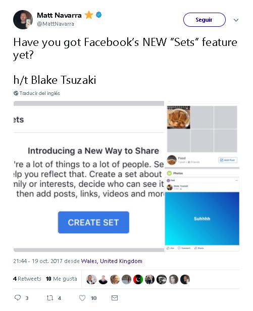 """¿Todavía no tienes la NUEVA función """"Sets"""" de Facebook?"""