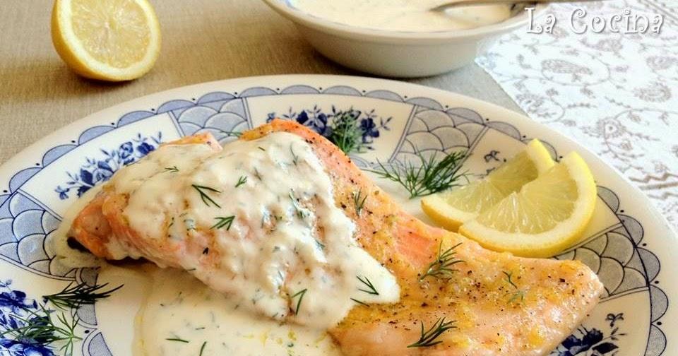Muy locos por la cocina salm n al horno con lim n y salsa for Como se cocina el salmon