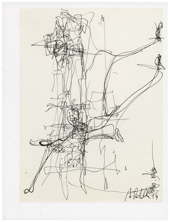 drawing Albert Oehlen Untitled, 2014
