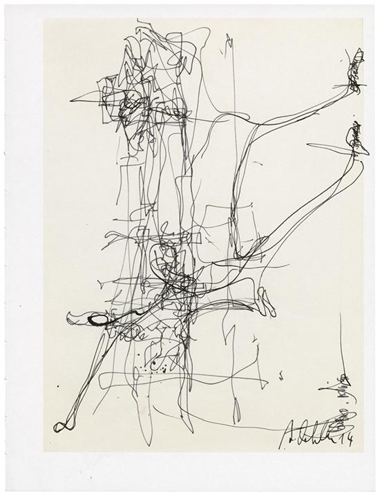drawing Albert Oehlen Untitled, 2014