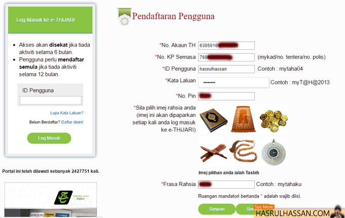 Semak Penyata Akaun Baki Terkini Tabung Haji Secara Online