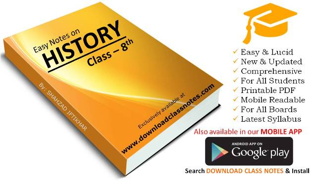 Download 8th Class History Notes (Unit-1) for Federal Board (FBISE) Islamabad
