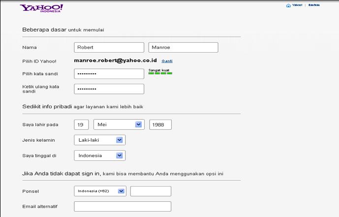 Membuat Email Baru Yahoo