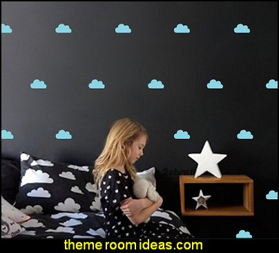 Clouds Wall Decals, Cloud Wall Decals, Cloud Decals, White cloud decals, cloud vinyl wall decals, cloud stickers, cloud wall stickers