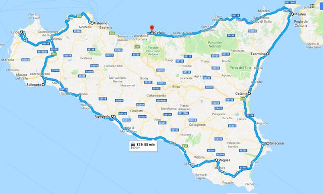 Recorrido circular en coche de 7 días por Sicilia