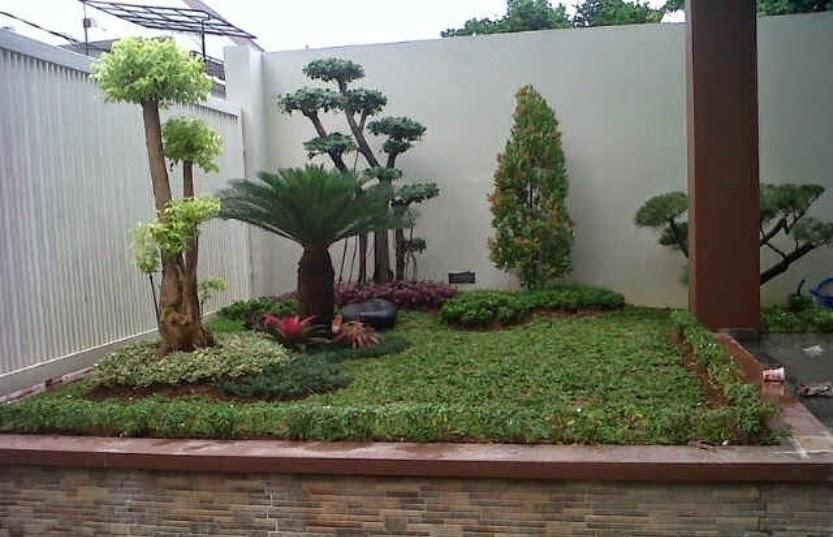 Jasa pembuatan taman depan rumah minimalis