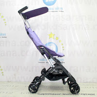 CocoLatte CL688 Pockit Lightweight Baby Stoller Purple