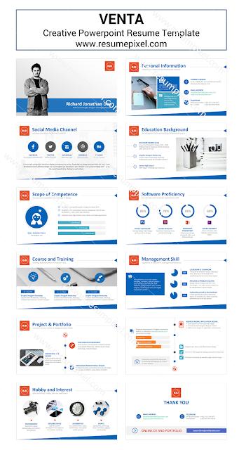 Template CV Menggunakan Microsoft Powerpoint