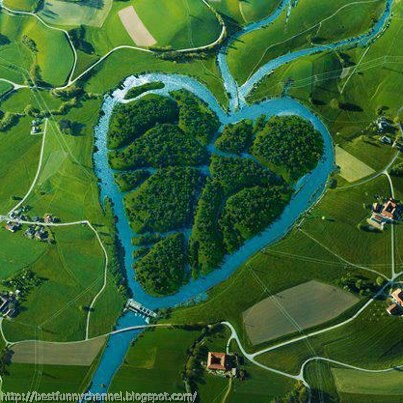 Two rivers heart