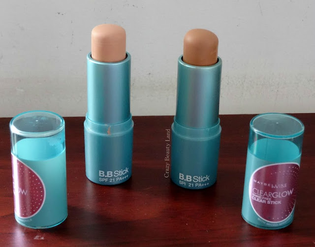 Multipurpose Drugstore Gems : Maybelline Clear Glow BB Stick Radiance and Fawn Review Swatches Price