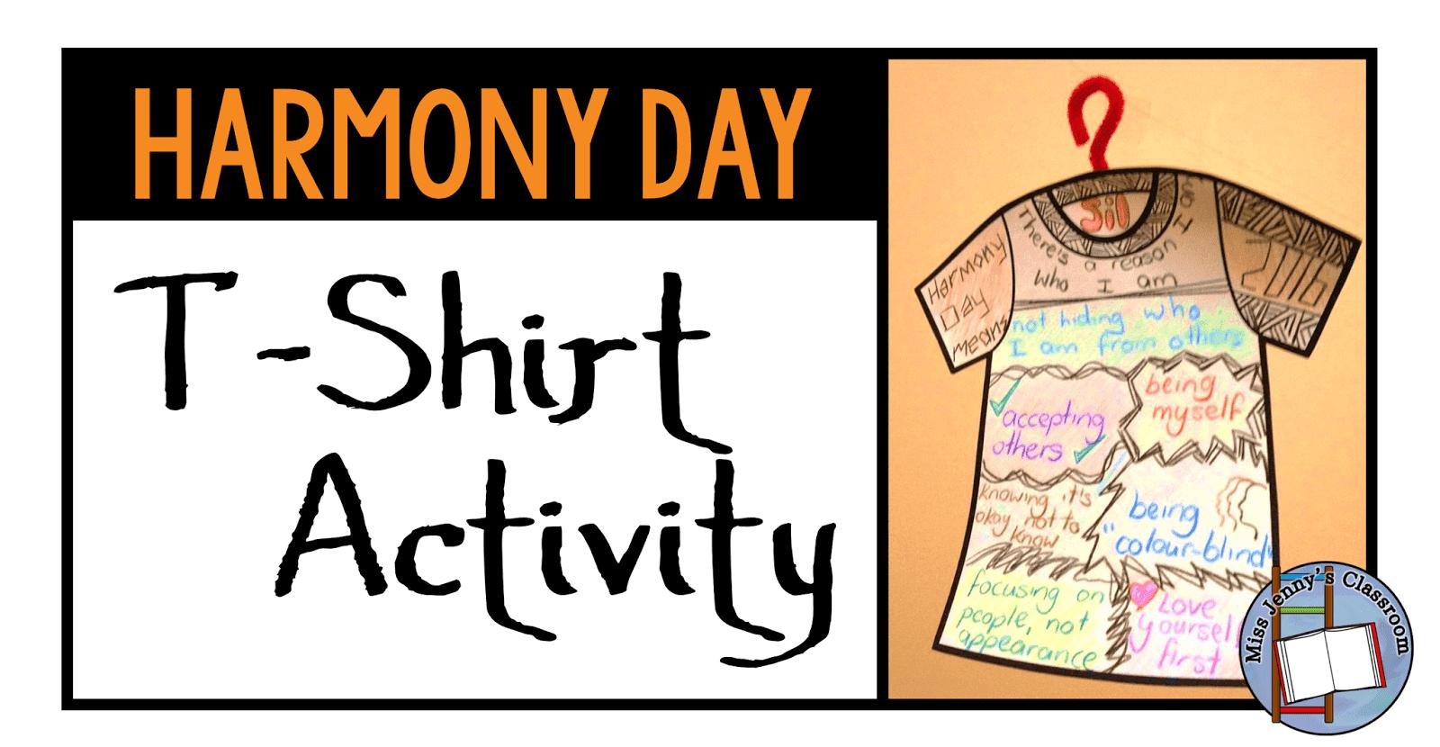 Harmony Day T Shirt Activity