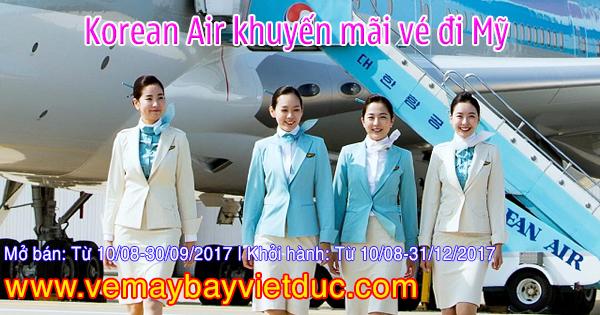 khuyến mãi vé rẻ bay từ HCM đi Mỹ của Korean Air