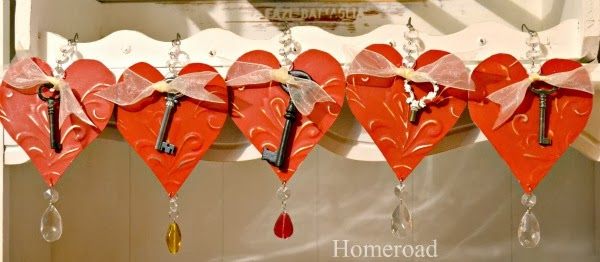 tin Valentine's day heart gifts www.homeroad.net