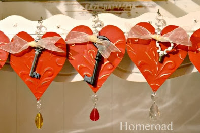 Tin Heart Ornaments for Your Valentine