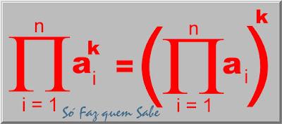 O produtório de (uma variável elevada a uma constante) é igual ao (produtório da variável) elevado à constante
