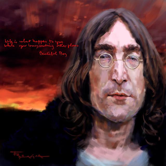 John Lennon caricature fede bengoa