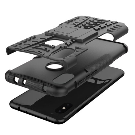 Hybrid Armor Dual Case Xiaomi Redmi Note 6 Pro with Stand Holder