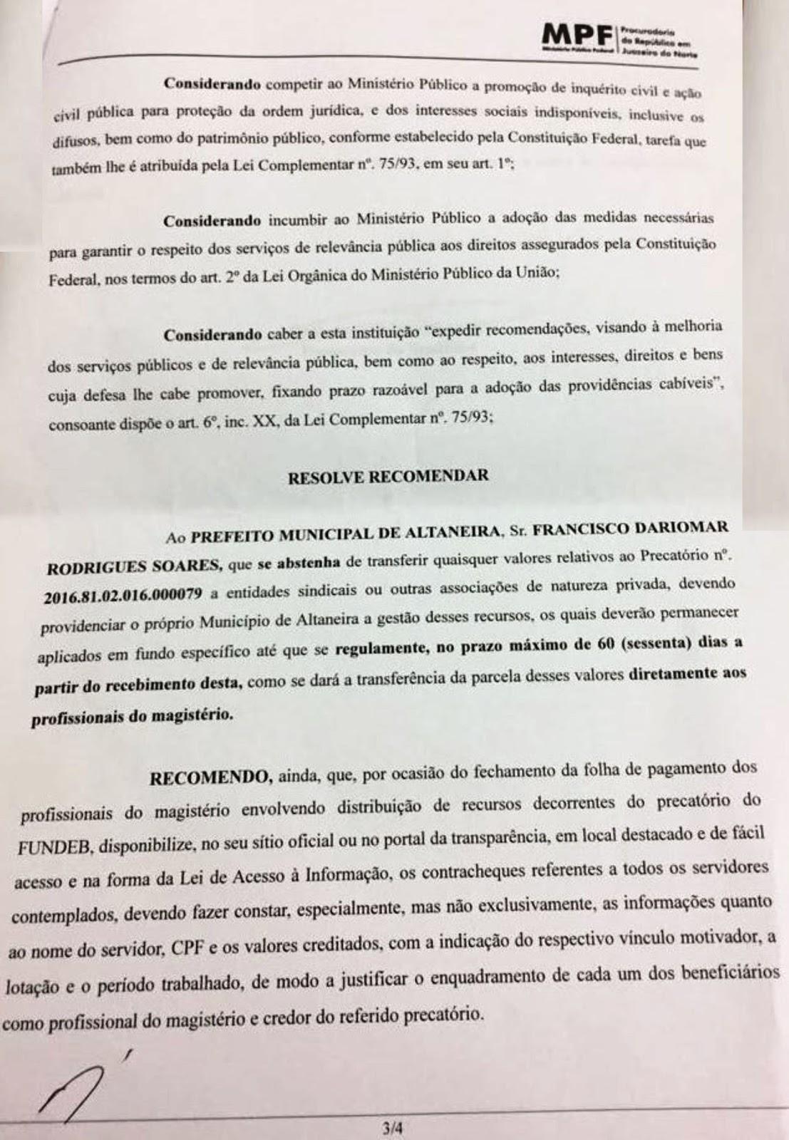 PRECATÓRIO - ALTANEIRA PODERÁ SER A PRÓXIMA CIDADE DO CARIRI A PAGAR ...