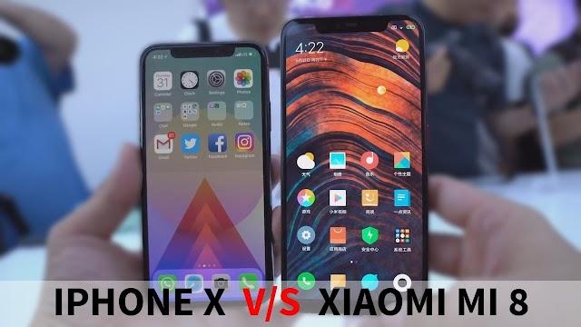 iphone x vs mi 8 SE