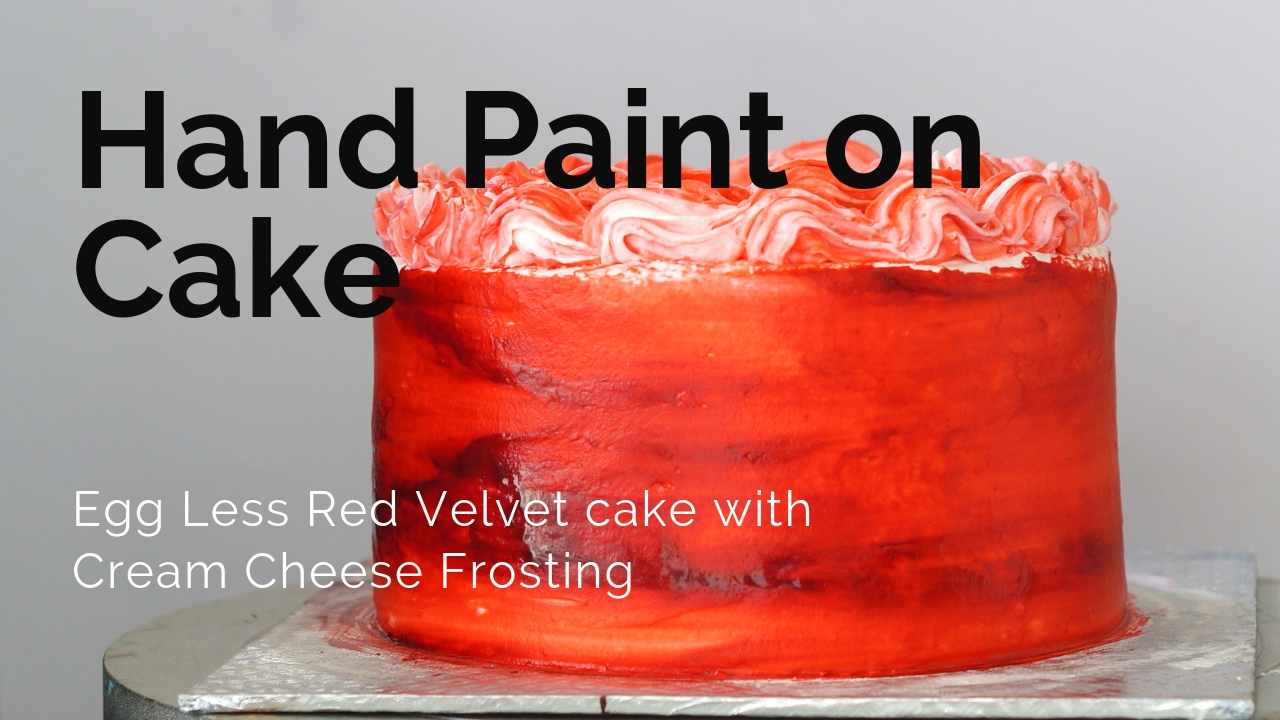 Bake with Neetu: How to Hand Paint on Cake - Free Hand