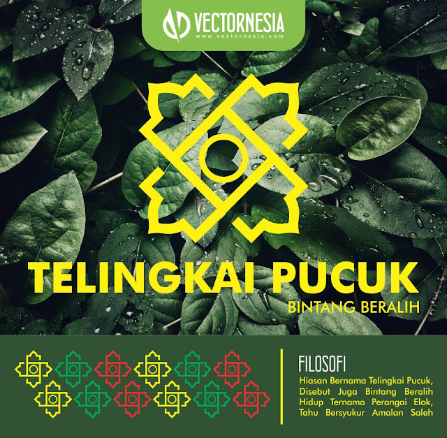 Free Download Vector Motif Melayu Telingkai Pucuk