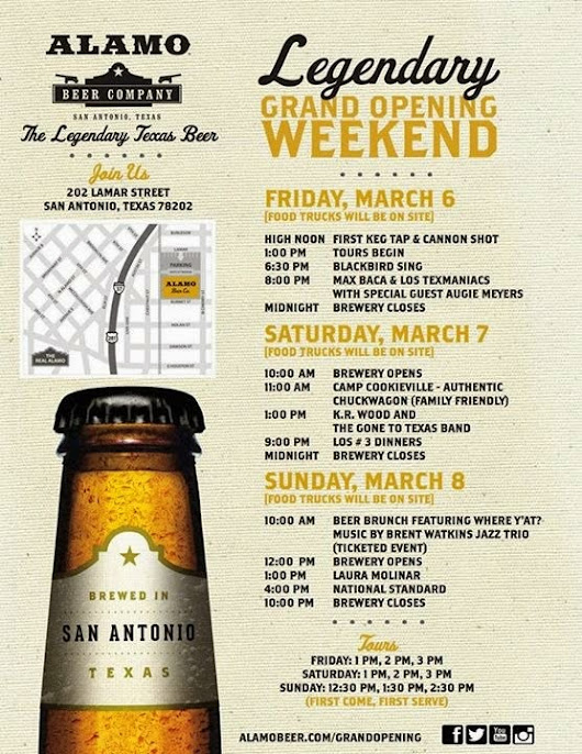 Wort's Going On Here?: Alamo Beer Company Grand Opening - March 6