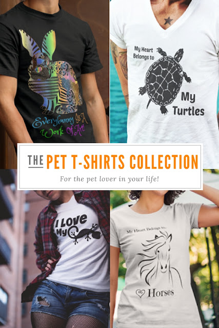Pet T Shirts let you share your love for your special critter with the world. They also make the perfect gift for all the animal lovers in your life.