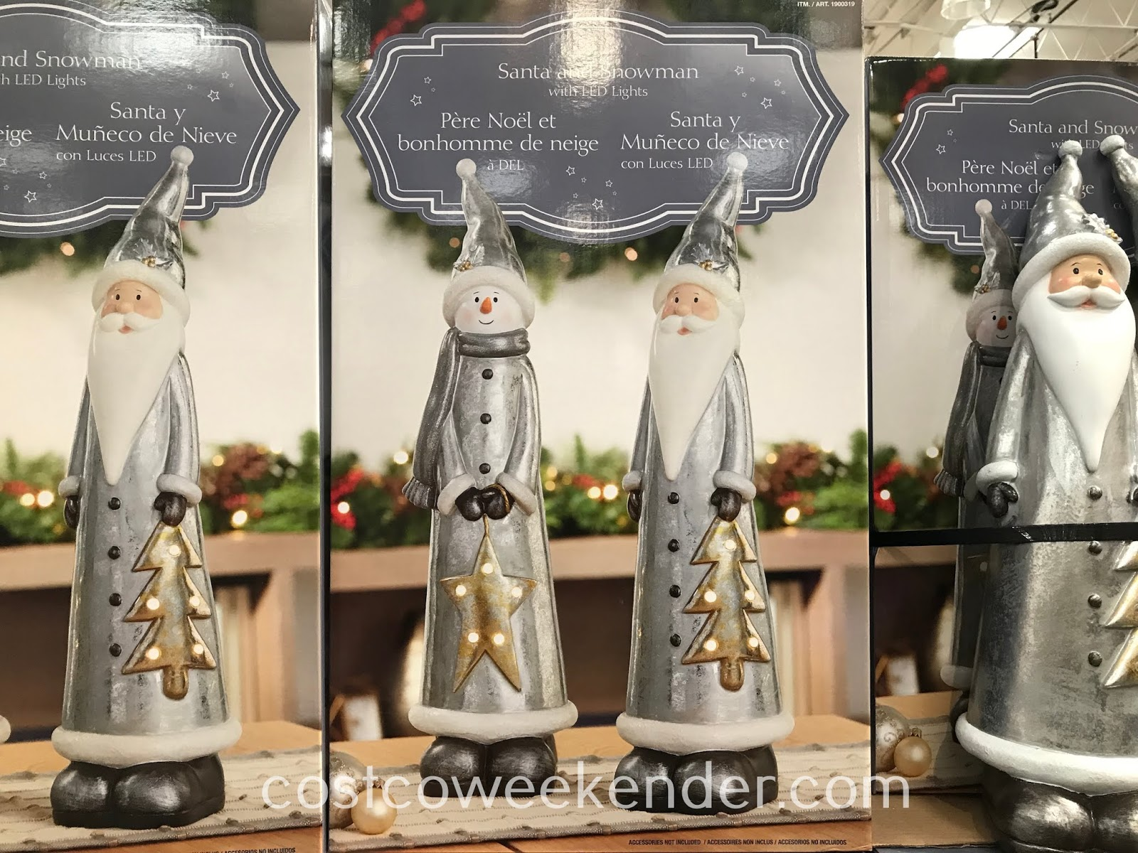 Decorate your home this Christmas with the Santa and Snowman with LED Lights