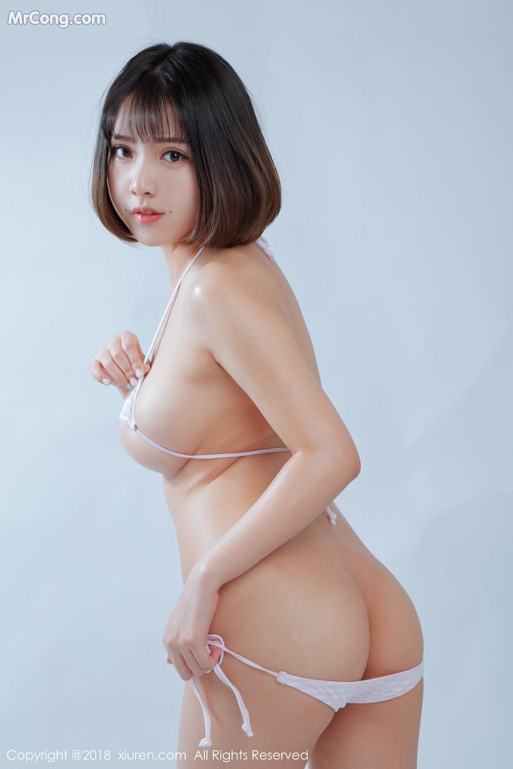 Image XIUREN-No.1129-Xiao-Mo-Nu-Nai-Nai-MrCong.com-008 in post XIUREN No.1129: Người mẫu 小魔女奈奈 (41 ảnh)