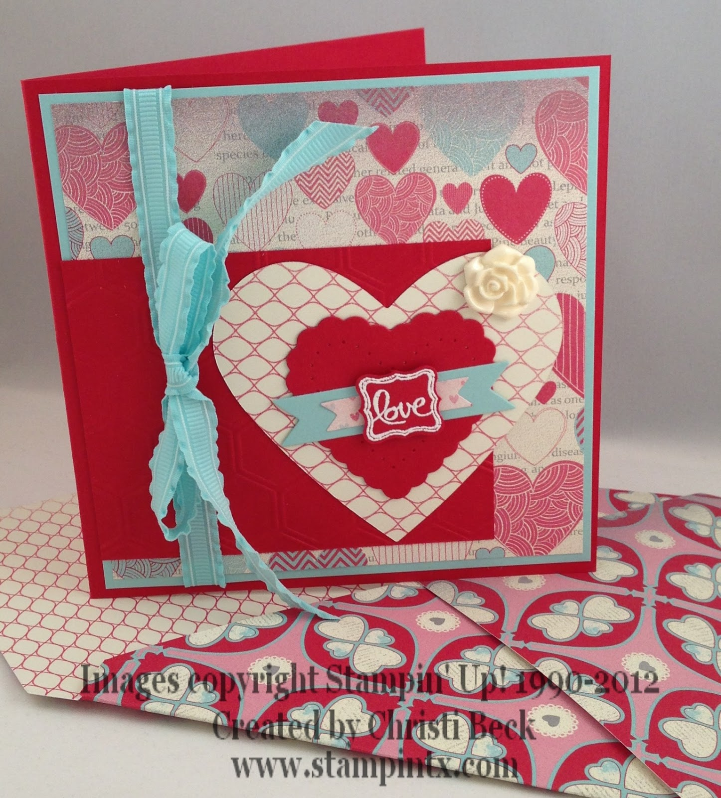 stampintx stampin' up valetines cards  projects