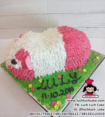 3d Buttercream Cake Guine Pig - Marmut