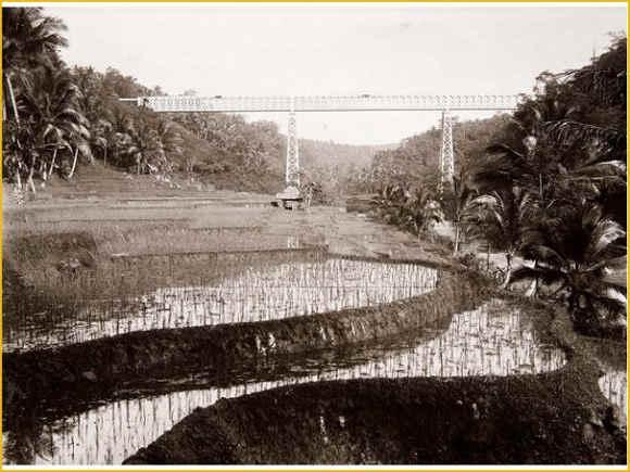 Jembatan Cirahong Tempo Dulu Dari Bawah (tahun tidak diketahui)