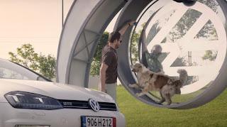 Ação da Volkswagen transforma cães em fontes de energia