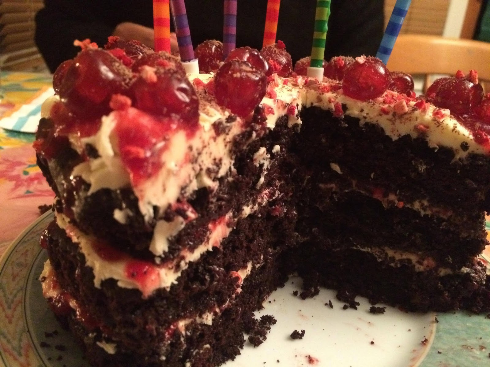 Beetroot, Chocolate and Cherry Birthday Cake ~ VEGAN