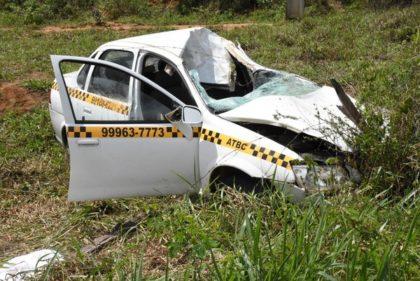 Tragédia na BA-265: táxi bate em cavalo; morre idoso que vinha para Vitória da Conquista fazer exames médicos