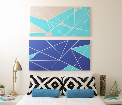 http://kailochic.blogspot.com/2015/05/make-it-geometric-canvas-headboard.html