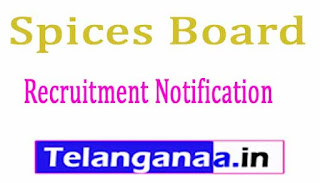 Spices Board Recruitment Notification 2017