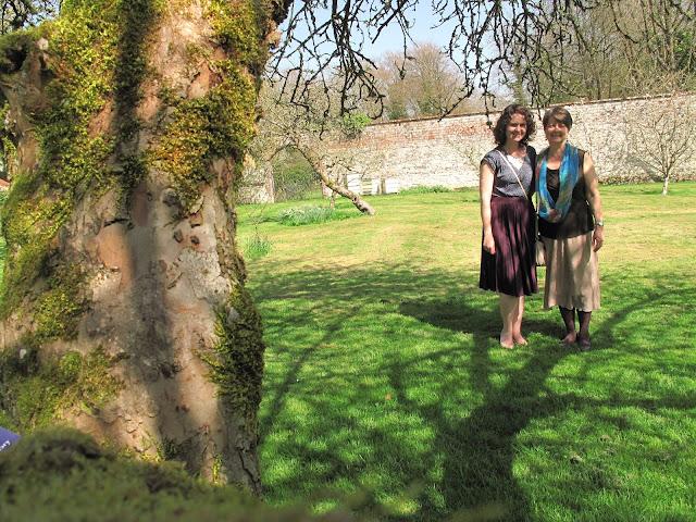 Enjoying a sunny day in Chawton garden!