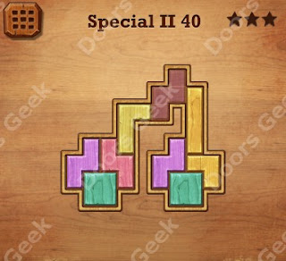 Cheats, Solutions, Walkthrough for Wood Block Puzzle Special II Level 40