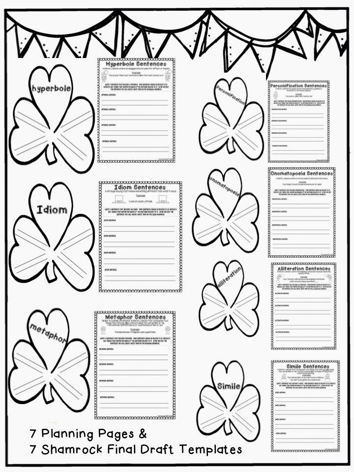 Each student will get a planning page that reviews each